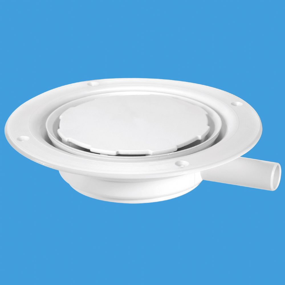 Mcalpine Usg1wh Untrapped Gully White Plastic Clamp Ring